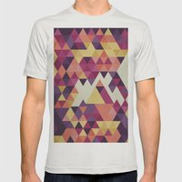 Geometri III Mens Fitted Tee Silver SMALL