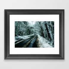 Road to Snowwhere Framed Art Print