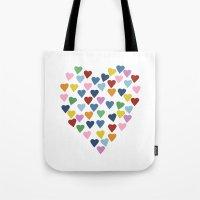 Hearts Heart Tote Bag