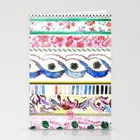 Patterned Stripes Stationery Cards