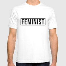 Feminist Mens Fitted Tee White SMALL