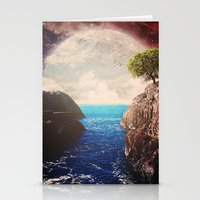 Where the moon meets the sea Stationery Cards