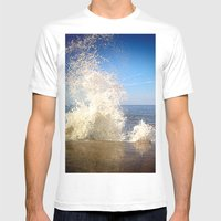 Crashing Wave Mens Fitted Tee White SMALL