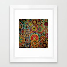 Kashmir on Wood 01 Framed Art Print