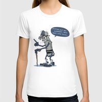 The Oldest Crayon in the Box Womens Fitted Tee White SMALL