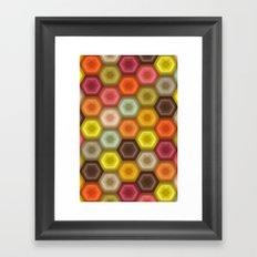 crochet honeycomb retro Framed Art Print