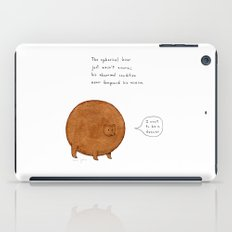the spherical bear iPad Case