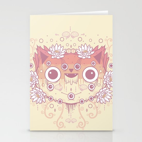 Cat flowers Stationery Card