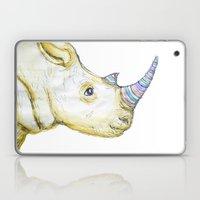 Striped Rhino Illustration Laptop & iPad Skin
