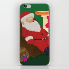 Sleeping Santa iPhone & iPod Skin