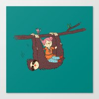 Sloth Swing Canvas Print