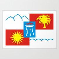 Sochi flag Art Print