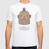 Beardform. Mens Fitted Tee Ash Grey SMALL