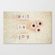Art Is Joy Canvas Print