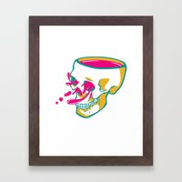 Liquid Thoughts:Skull Framed Art Print