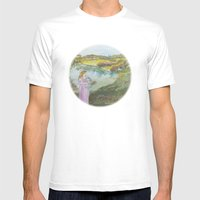 Girl Setting a Bird Free Mens Fitted Tee White SMALL