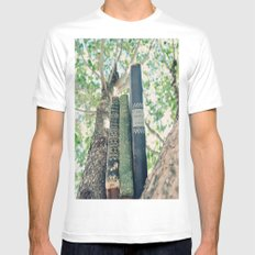 Books Mens Fitted Tee White SMALL