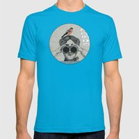 she wants to see the world Mens Fitted Tee Teal SMALL