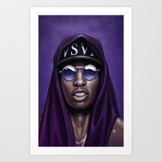Purple Swag Art Print