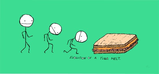Evolution of a Tuna Melt Art Print