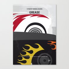 No674 My GREASE minimal movie poster Canvas Print
