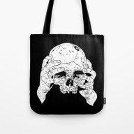 Skull In Hands Tote Bag