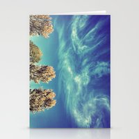 Swirly Clouds  Stationery Cards