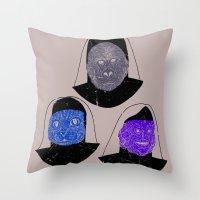 Creatures of Habit Throw Pillow