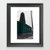 Building With Altered Color Framed Art Print