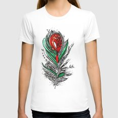 Flower Lover Womens Fitted Tee White SMALL