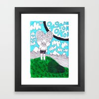 OK Moon Framed Art Print