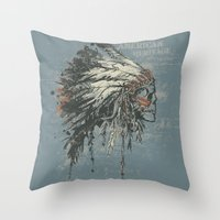American Heritage (Dark) Throw Pillow