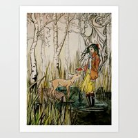 to befriend a doe Art Print