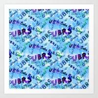 UBRS Baby Blue Art Print