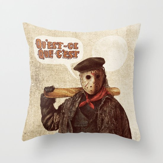Psycho Killer Throw Pillow