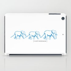I Got Your Back - Elephant Print iPad Case