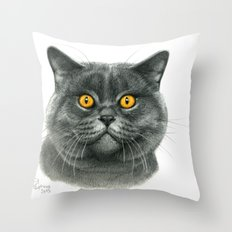 British shorthair cat  G120 Throw Pillow