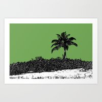 Palm Tree - Green Art Print