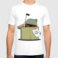 Boba Fett BOX Mens Fitted Tee White SMALL
