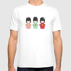 Kokeshi White Mens Fitted Tee SMALL
