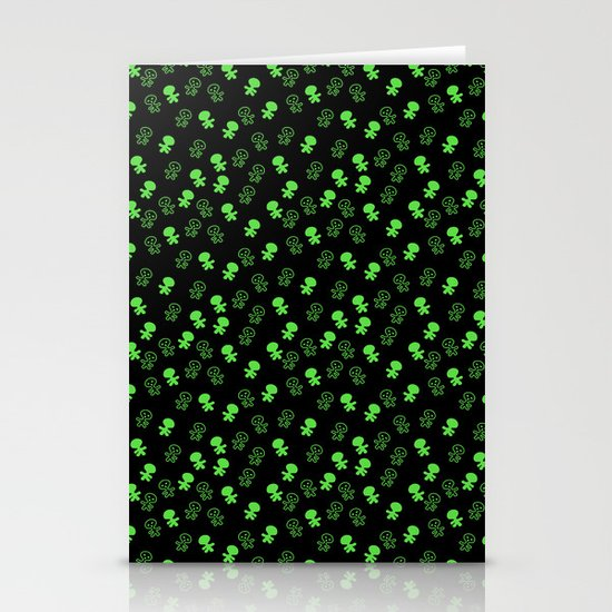 Aliens-Green Stationery Card