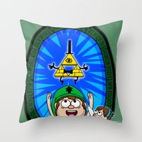 Gravity Falls: Hyrule Fa… Throw Pillow