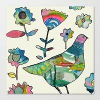 dove in the garden Canvas Print