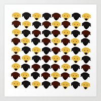 Labrador dog pattern Art Print