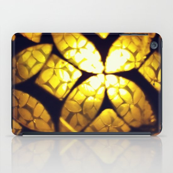 Yellow Glass Texture iPad Case