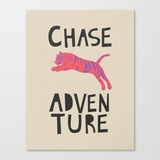 Chase Adventure, nursery art, children's art Canvas Print