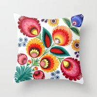Slavic Folk Pattern Throw Pillow