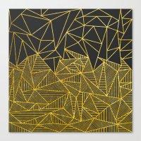 Bullion Rays (gold) Canvas Print