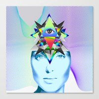 Canvas Print featuring Psychedelic Woman by Ruben Marcus Luz Paschoarelli