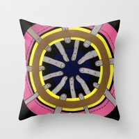 Radial Blame III Throw Pillow